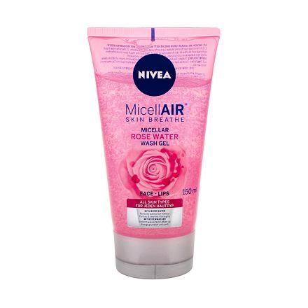Nivea MicellAIR Rose Water micelární čisticí gel pro všechny typy pleti 150 ml pro ženy