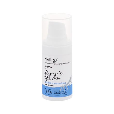 kili·g woman double moisturizing hydratační oční krém pro všechny typy pleti 15 ml pro ženy