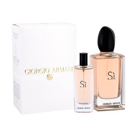 Giorgio Armani Sì sada parfémovaná voda 100 ml + parfémovaná voda 15 ml pro ženy