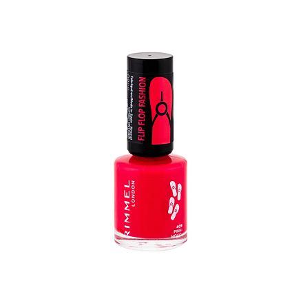 Rimmel London 60 Seconds Flip Flop lak na nehty s výraznou barvou a oslnivým leskem 8 ml odstín 409 Pink-Holic