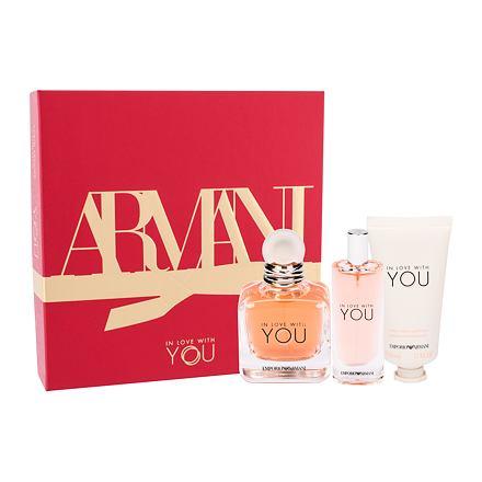 Giorgio Armani Emporio Armani In Love With You 50 ml sada parfémovaná voda 50 ml + parfémovaná voda 15 ml + krém na ruce 50 ml pro ženy