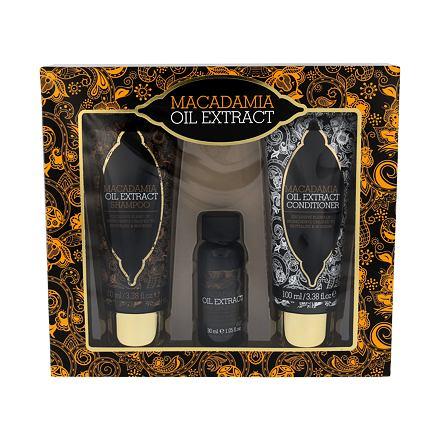 Xpel Macadamia Oil Extract 100 ml sada šampon 100 ml + kondicionér 100 ml + sérum na vlasy 30 ml pro ženy