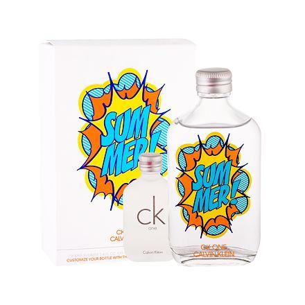Calvin Klein CK One Summer 2019 100 ml sada toaletní voda 100 ml + toaletní voda CK One 15 ml unisex