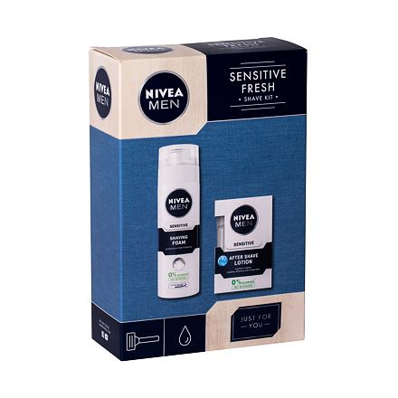 Nivea Men Sensitive 100 ml sada voda po holení 100 ml + pěna na holení 200 ml pro muže