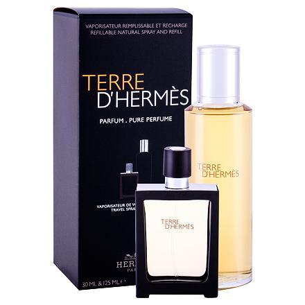 Hermes Terre d´Hermès 125 ml sada parfém náplň 125 ml + parfém naplnitelný flakón 30 ml pro muže