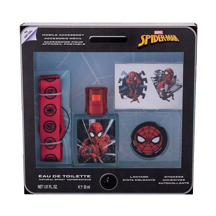 Marvel Spiderman 30 ml sada toaletní voda 30 ml + samolepky + klíčenka + držák na mobil pro děti
