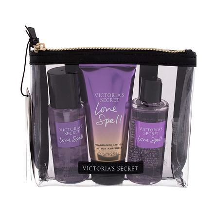 Victoria´s Secret Love Spell 75 ml sada vyživující tělový spray 75 ml + tělové mléko 75 ml + sprchový gel 89 ml + kosmetická taštička pro ženy