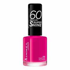 Lak na nehty Rimmel London 60 Seconds Super Shine 8 ml 323 Funtime Fuchsia