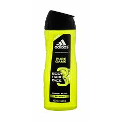 Sprchový gel Adidas Pure Game 3in1 400 ml