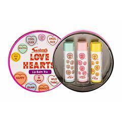 Balzám na rty Swizzels Lip Balm Trio Love Hearts 4 g Kazeta