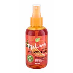 Opalovací přípravek na tělo Vivaco Bio Carrot Suntan Oil SPF15 150 ml
