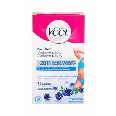 Depilační přípravek Veet Easy-Gel™ Wax Strips Bikini and Armpit Sensitive Skin 16 ks