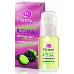 Masážní olej Dermacol Aroma Ritual Stress Relief Body Oil Grape & Lime