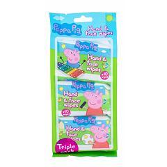 Čisticí ubrousky Peppa Pig Peppa Hand & Face Wipes 30 ks
