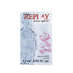 Toaletní voda Replay Jeans Spirit! For Her 1,2 ml Vzorek