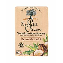 Tuhé mýdlo Le Petit Olivier Shea Butter Extra Mild Surgras Soap 250 g