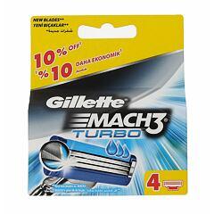Náhradní břit Gillette Mach3 Turbo 4 ks