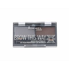 Úprava obočí Rimmel London Brow This Way 2,4 g 003 Dark Brown