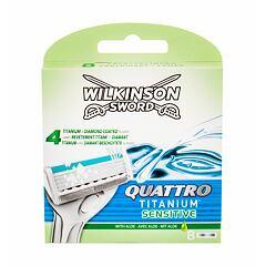 Náhradní břit Wilkinson Sword Quattro Titanium Sensitive 8 ks
