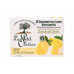 Tělový peeling Le Petit Olivier Exfoliating Body Soap Lemon Peel 200 g
