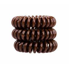 Gumička na vlasy Invisibobble The Traceless Hair Ring 3 ks Pretzel Brown