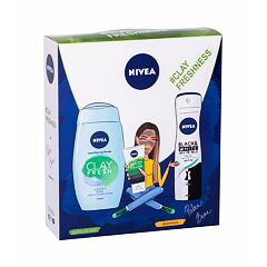 Sprchový gel Nivea Clay Fresh 250 ml Ginger & Basil Kazeta