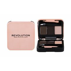 Set a paletka na obočí Makeup Revolution London Brow Sculpt Kit 2,2 g Dark Brown