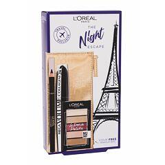 Řasenka L´Oréal Paris The Night Escape 9 ml Mega Black Kazeta