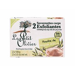 Tělový peeling Le Petit Olivier Exfoliating Body Soap Olive Pit Powder 200 g