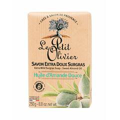 Tuhé mýdlo Le Petit Olivier Almond Oil Extra Mild Surgras Soap 250 g