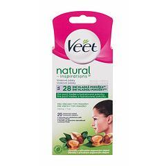 Depilační přípravek Veet Natural Inspirations™ Face Wax Strips Argan Oil 20 ks