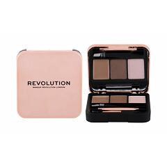Set a paletka na obočí Makeup Revolution London Brow Sculpt Kit 2,2 g Brown