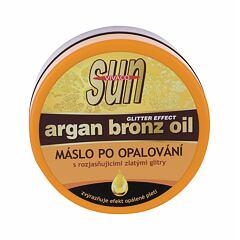 Přípravek po opalování Vivaco Sun Argan Bronz Oil Glitter Aftersun Butter 200 ml