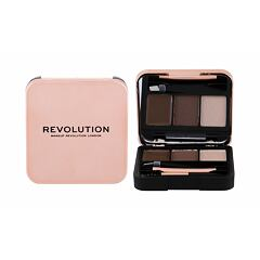 Set a paletka na obočí Makeup Revolution London Brow Sculpt Kit 2,2 g Medium Brown