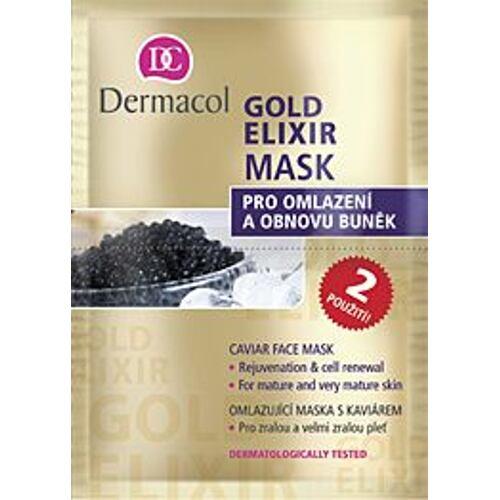 Dermacol Gold Elixir pleťová maska 16 ml pro ženy