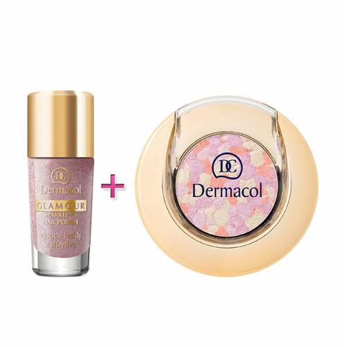 Dermacol Glamour Sparkling lak na nehty lak na nehty 9 ml + oční stíny 1,8 g 2 pro ženy