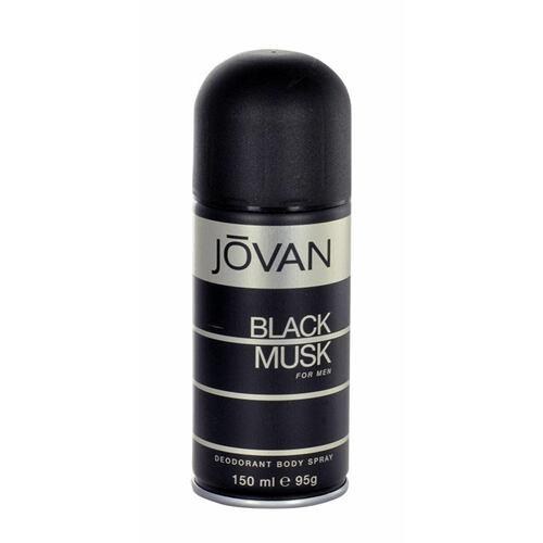 Jovan Musk Black For Men deodorant 150 ml pro muže