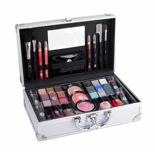 2K Fabulous Beauty Train Case dekorativní kazeta Complete Makeup Palette pro ženy