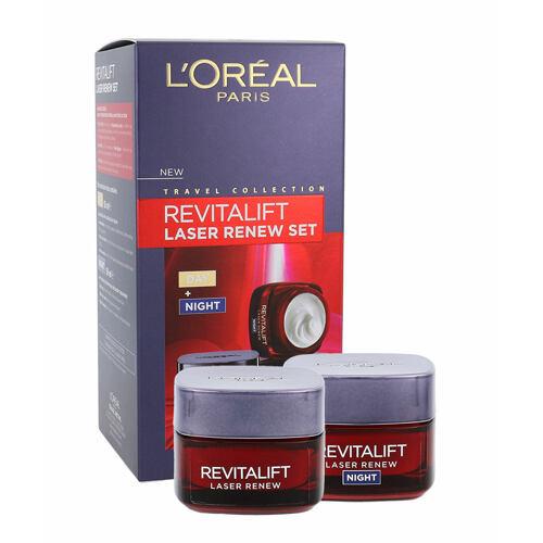 L´Oréal Paris Revitalift Laser Renew denní pleťový krém denní pleťová péče 50 ml + noční pleťová péče 50 ml pro ženy