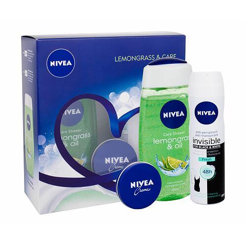 Nivea Lemongrass & Oil sprchový gel dárková kazeta pro ženy