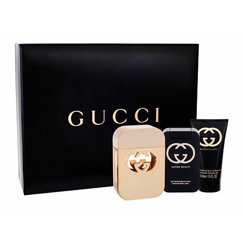 Gucci Gucci Guilty EDT EDT 75 ml + tělové mléko 100 ml + sprchový gel 50 ml pro ženy