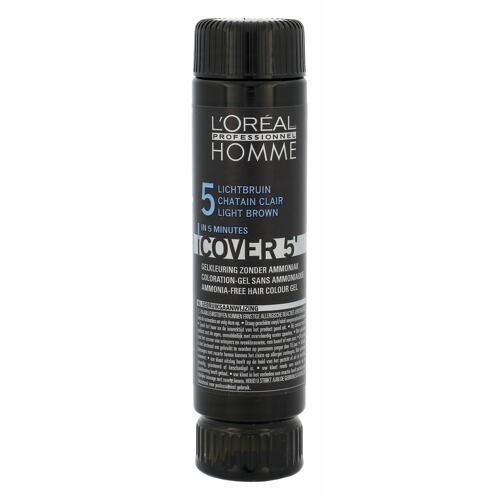 L´Oréal Professionnel Homme Cover 5´ barva na vlasy 3x50 ml Poškozená krabička pro muže