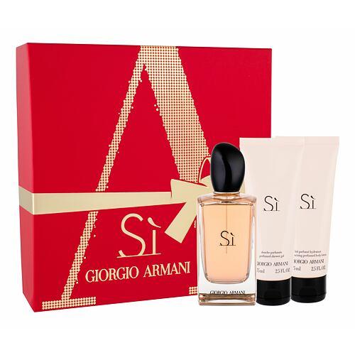 Giorgio Armani Si EDP EDP 100 ml + tělové mléko 75 ml + sprchový gel 75 ml pro ženy