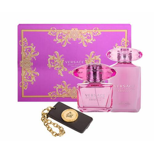 Versace Bright Crystal Absolu EDP EDP 90 ml + tělové mléko 100 ml + visačka na zavazadla pro ženy