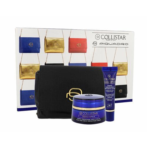 Collistar Perfecta Plus Face And Neck Perfection denní pleťový krém denní pleťová péče 50 ml + oční péče 8,5 ml + kosmetická taška pro ženy