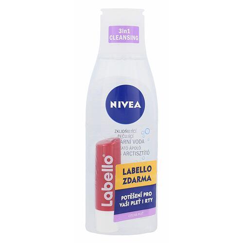 Nivea Sensitive 3in1 Micellar Cleansing Water micelární voda micelární voda 200 ml + balzám na rty 5,5 ml Cherry Shine pro ženy