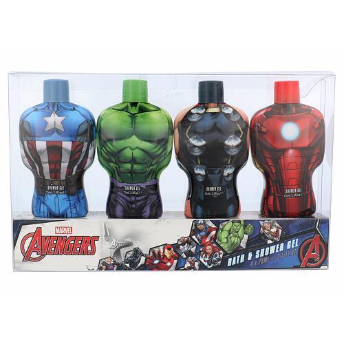 Marvel Avengers sprchový gel sprchový gel 4x 75ml - Hulk + Thor + Iron Man + Captain America Unisex