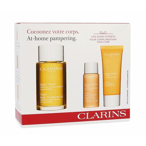 Clarins Tonic Body Treatment Oil tělový olej dárková kazeta pro ženy
