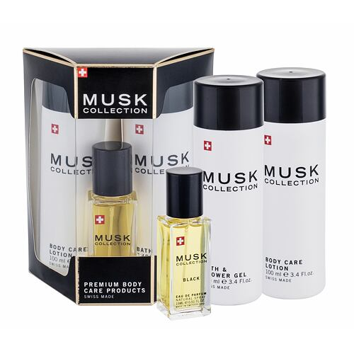 MUSK Collection Musk Collection Black EDP EDP 15 ml + tělové mléko 100 ml + sprchový gel 100 ml pro ženy