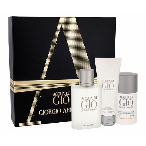 Giorgio Armani Acqua di Gio Pour Homme EDT EDT 100 ml + deostick 75 ml + sprchový gel 75 ml pro muže